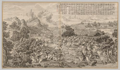 Victory at Heluo Heshi: from Battle Scenes of the Quelling of Rebellions in the Western Regions, with Imperial Poems