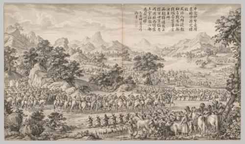 Receiving Surrender from the Eli: from Battle Scenes of the Quelling of Rebellions in the Western Regions, with Imperial Poems