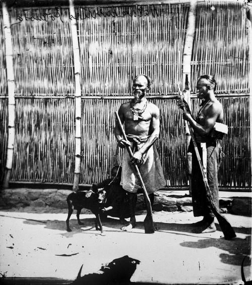 福爾摩沙(臺灣)影像:A native hunting party, Baksa