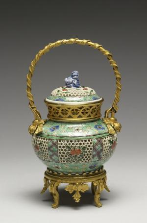 Covered Bowl with Flowers and Plum Blossoms