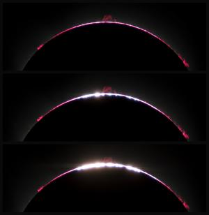 The 2017 North American Total Solar Eclipse: chromosphere, prominence, and Baily's Beads around C3